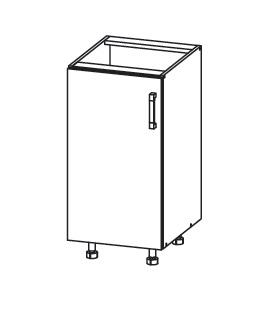 Smartshop PLATE dolní skříňka D40, korpus bílá alpská, dvířka dub wenge