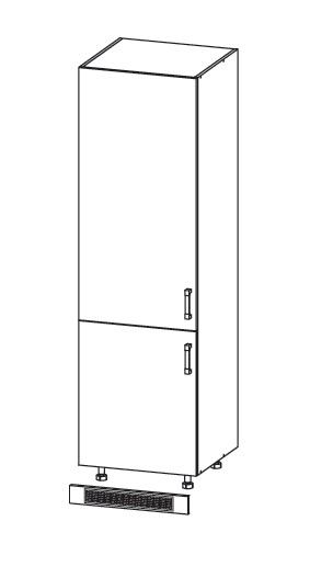 Smartshop PLATE skříň na lednici DL60/207, korpus wenge, dvířka dub wenge