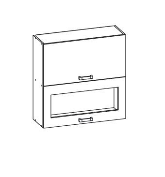 Smartshop IRIS horní skříňka G2O 60/72, korpus wenge, dvířka dub sonoma hnědý