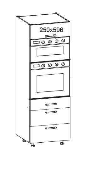 Smartshop REPASO vysoká skříň DPS60/207 SAMBOX O, korpus wenge, dvířka dub sanremo