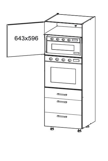 Smartshop APLAUS vysoká skříň DPS60/207 SAMBOX, korpus šedá grenola, dvířka dub bílý