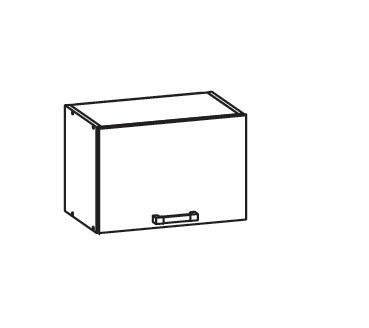 Smartshop APLAUS horní skříňka GO50/36, korpus bílá alpská, dvířka dub hnědý