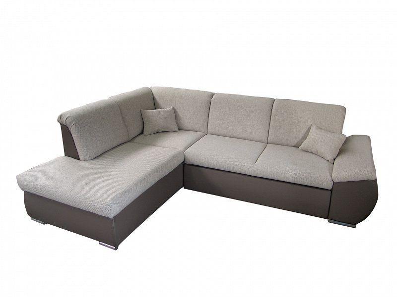 ORFA MIX Rohová sedačka CARO, levá, šedá/hnědá