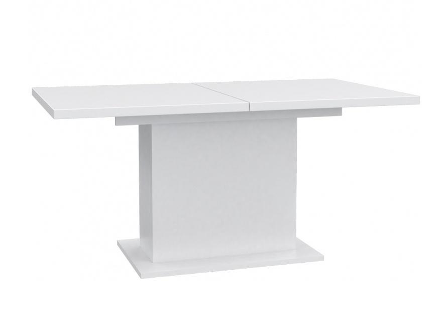 Forte Jídelní rozkládací stůl EST42, bílý