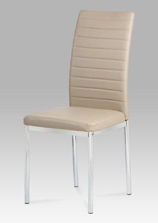 Autronic Jídelní židle, koženka cappuccino / chrom AC-1285 CAP