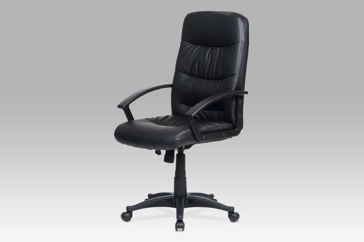 Autronic Kancelářská židle, koženka černá KA-N318 BK