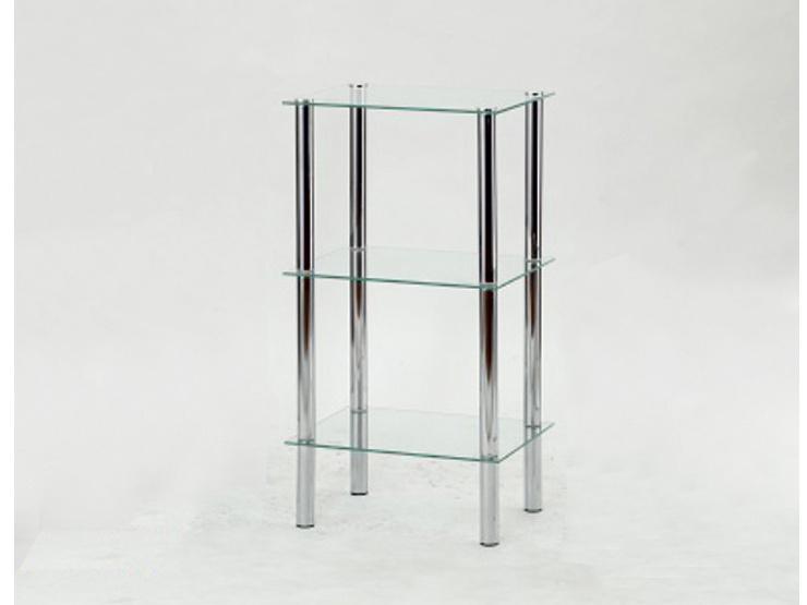 FREDDY 2 regál, kov/sklo