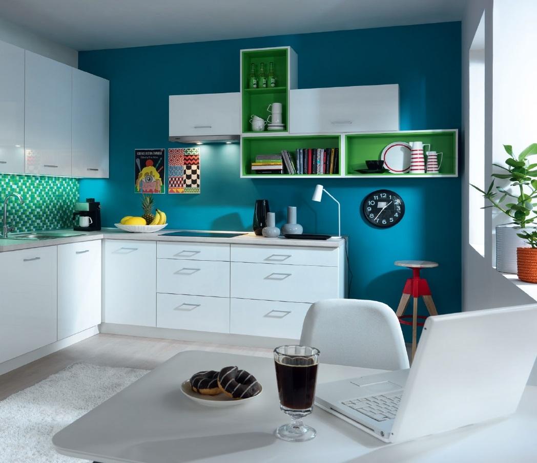 Smartshop Rohová kuchyně TAPO PLUS, VZOROVÁ SESTAVA 1, bílý lesk