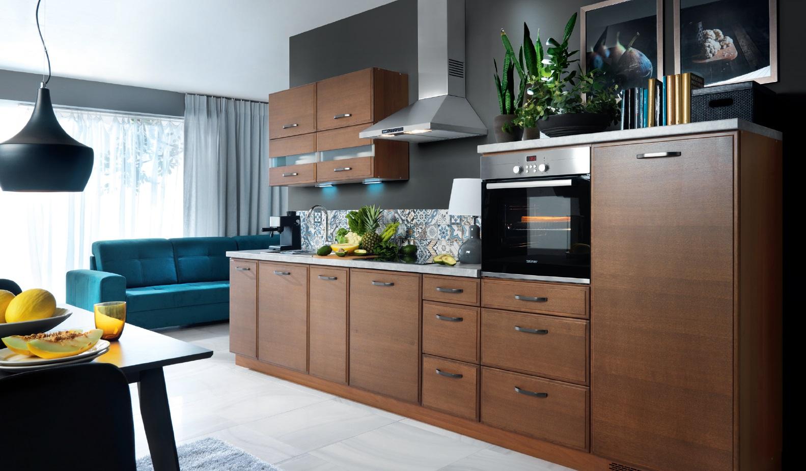 Smartshop Kuchyně APLAUS, VZOROVÁ SESTAVA, dub hnědý