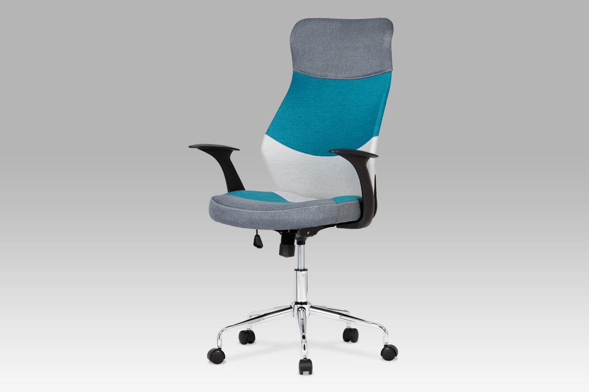 Autronic Kancelářská židle KA-N849 BLUE, modrá