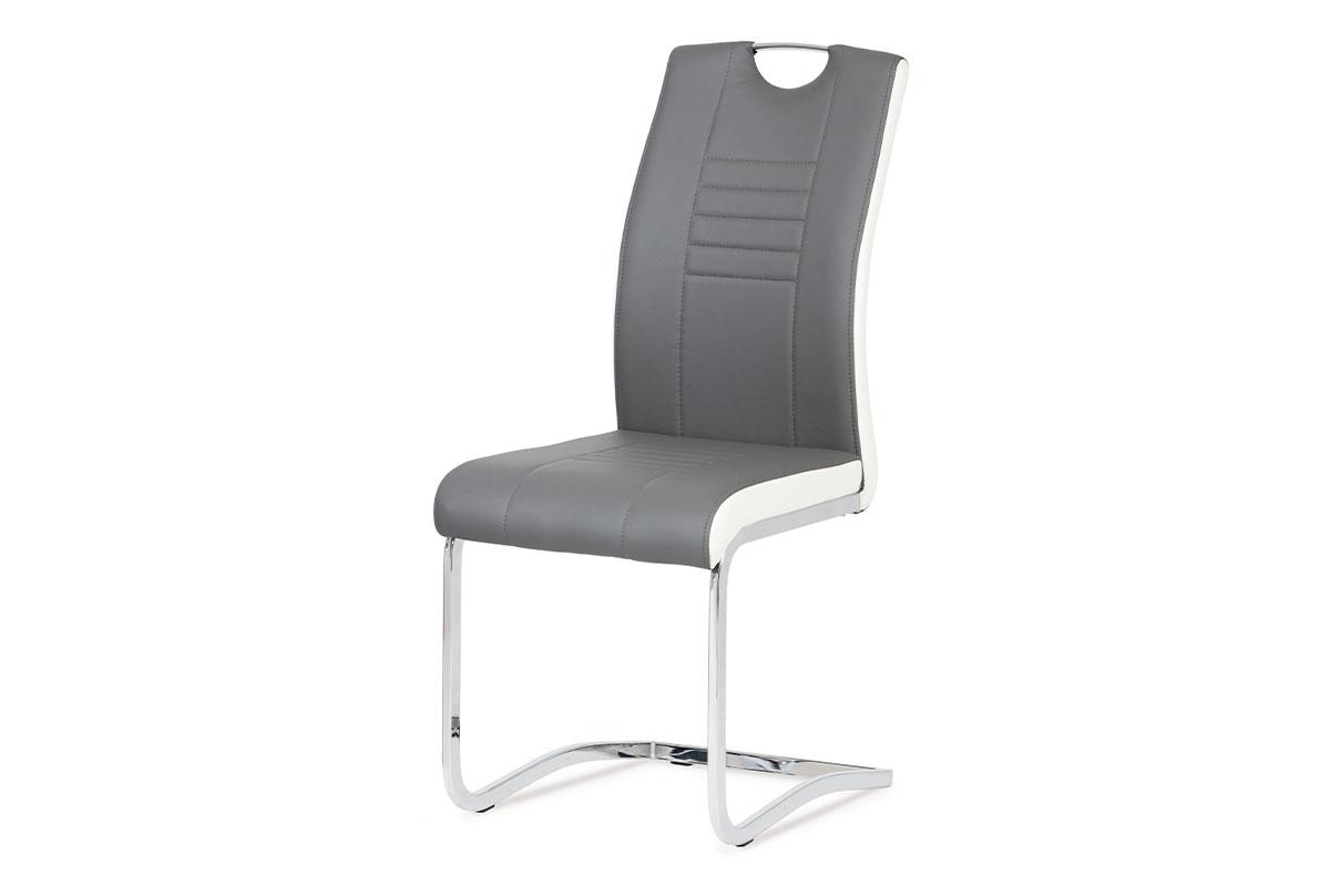 Jídelní židle DCL-406 GREY, šedá