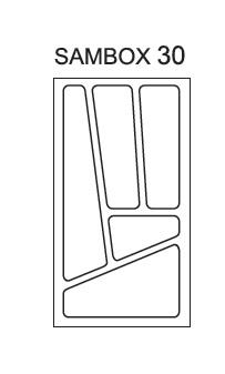 Smartshop Pořadač do zásuvek SAMBOX, 30 cm