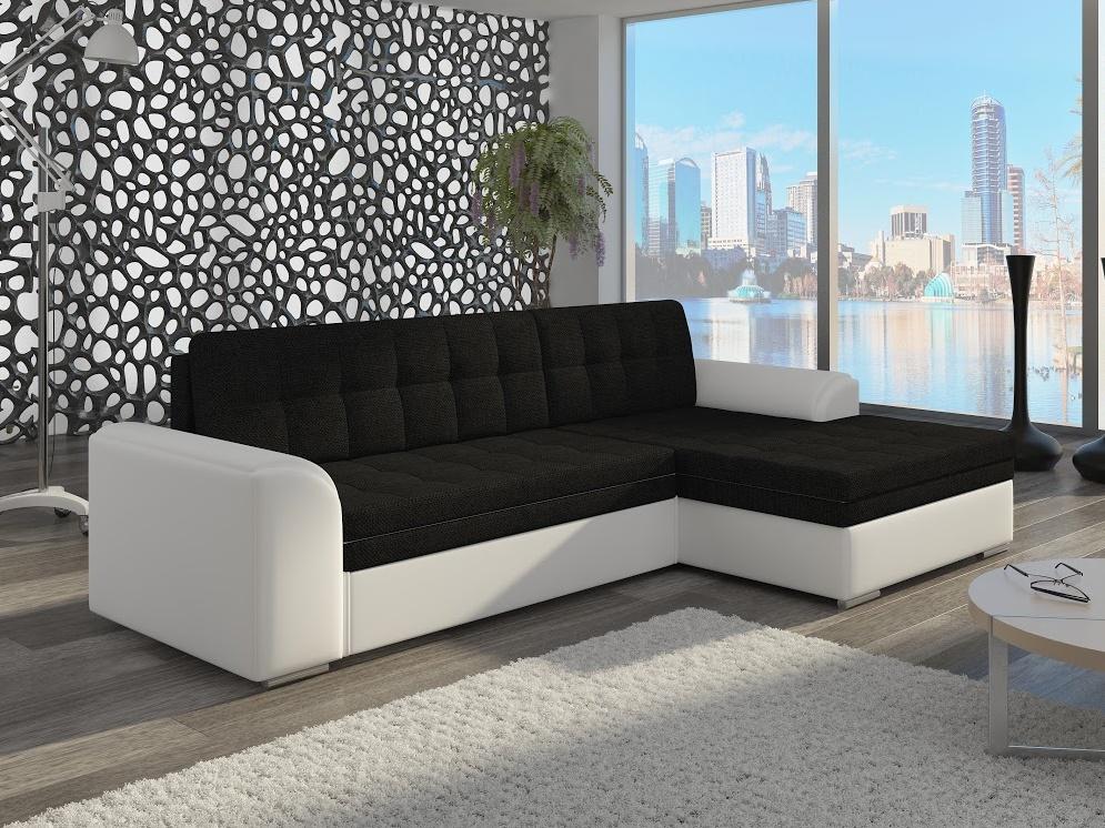 ELTAP Rohová sedačka CONFORTI 04 pravá, černá/bílá