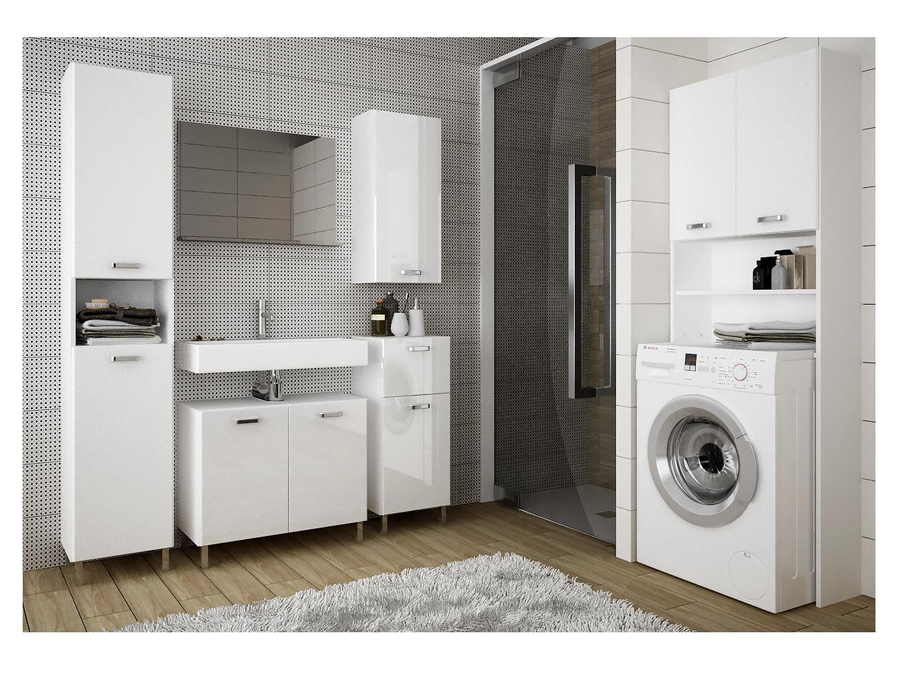 Extom SINDY, koupelnová sestava, alpská bílá/bílý lesk