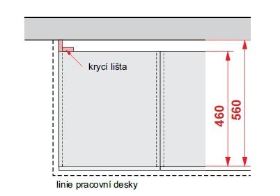 Smartshop Příslušenství - Krycí lišta DBZ10/82, korpus ořech guarneri