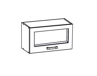 Smartshop TAL2 horní skříňka GO60/36, korpus wenge, dvířka milo