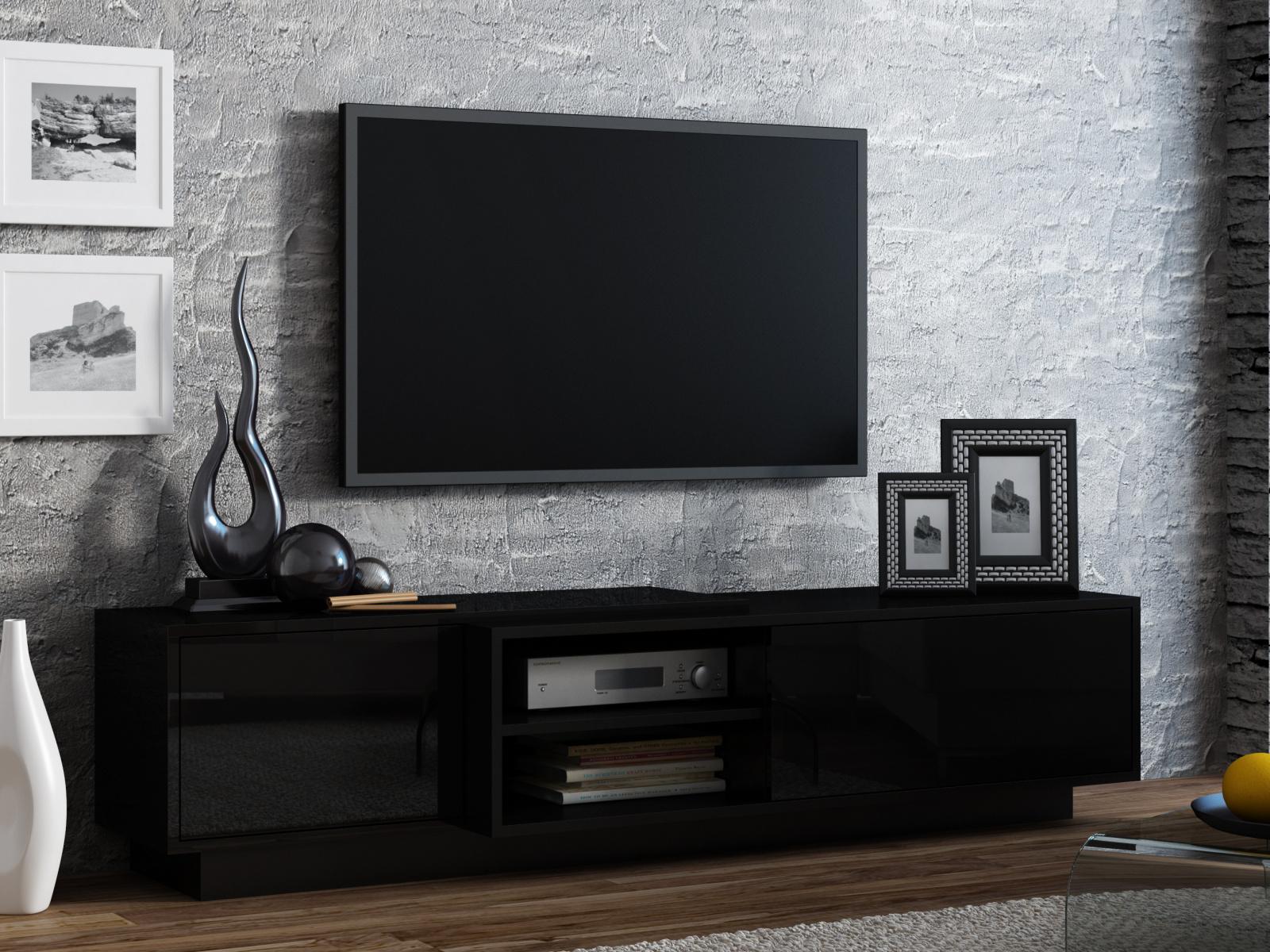 CAMA Televizní stolek RTV SIGMA 1E, černá