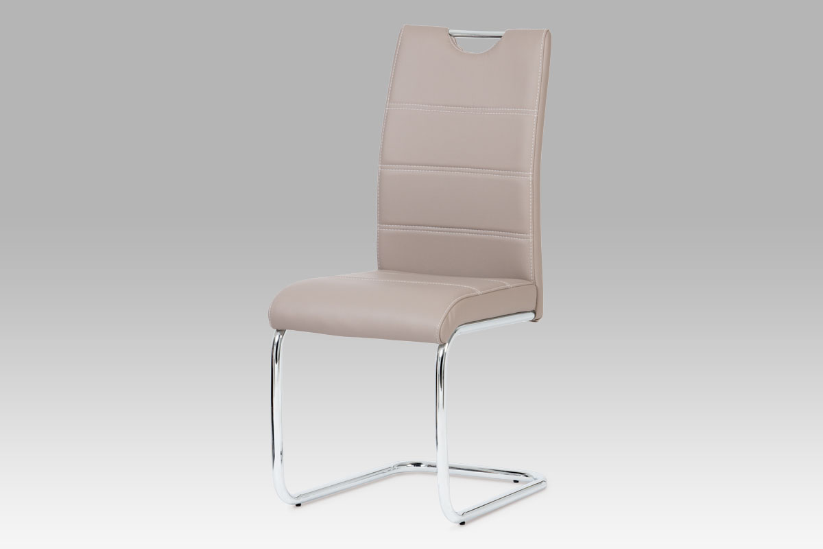 Autronic Jídelní židle, chrom / koženka lanýžová HC-581 LAN
