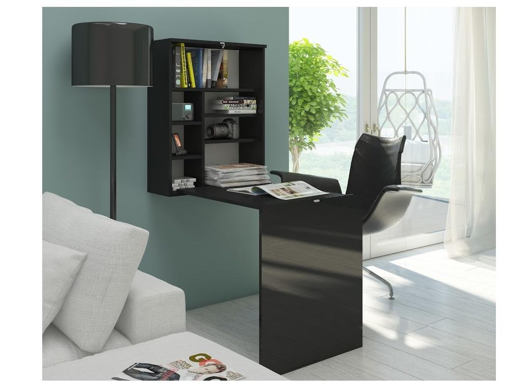 MORAVIA FLAT Psací stůl HIDE, černá/černý lesk