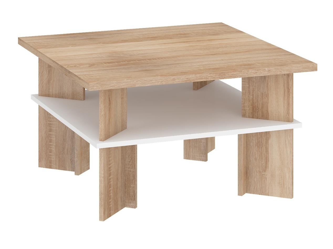MORAVIA FLAT Konferenční stolek VECTRA 1, dub sonoma/bílá