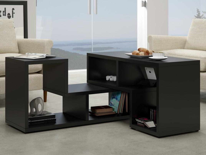 MORAVIA FLAT Konferenční stolek TOP, černá
