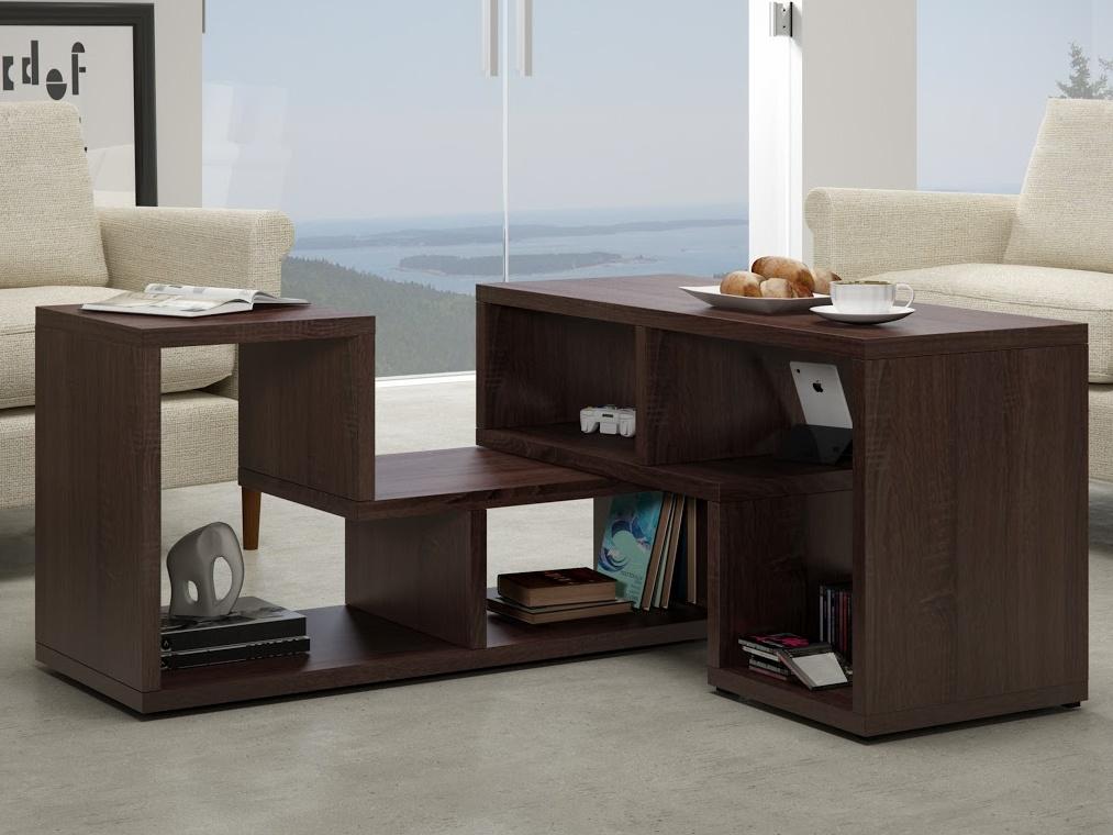 MORAVIA FLAT Konferenční stolek TOP, dub sonoma tmavý