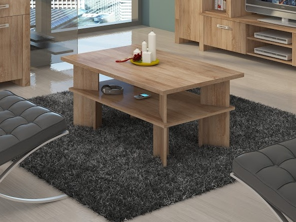 MORAVIA FLAT Konferenční stolek VECTRA 2, dub sonoma