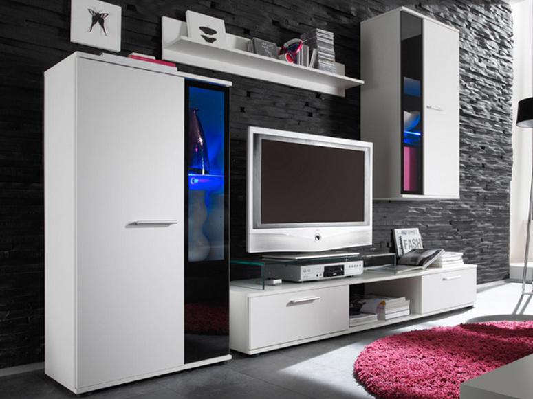 SmartShop Obývací stěna SALSA bílá mat