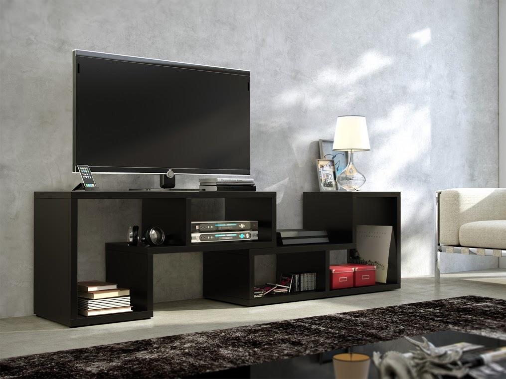 MORAVIA FLAT TV stolek TOP, černá