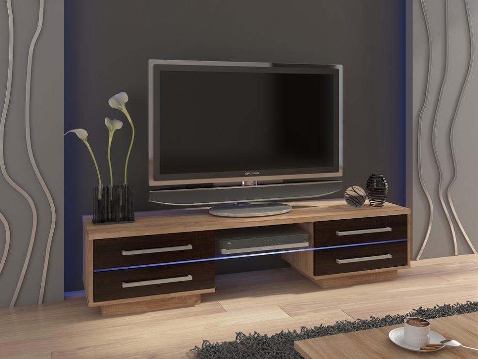 MORAVIA FLAT TV stolek LAGUNA, dub sonoma/dub sonoma tmavý