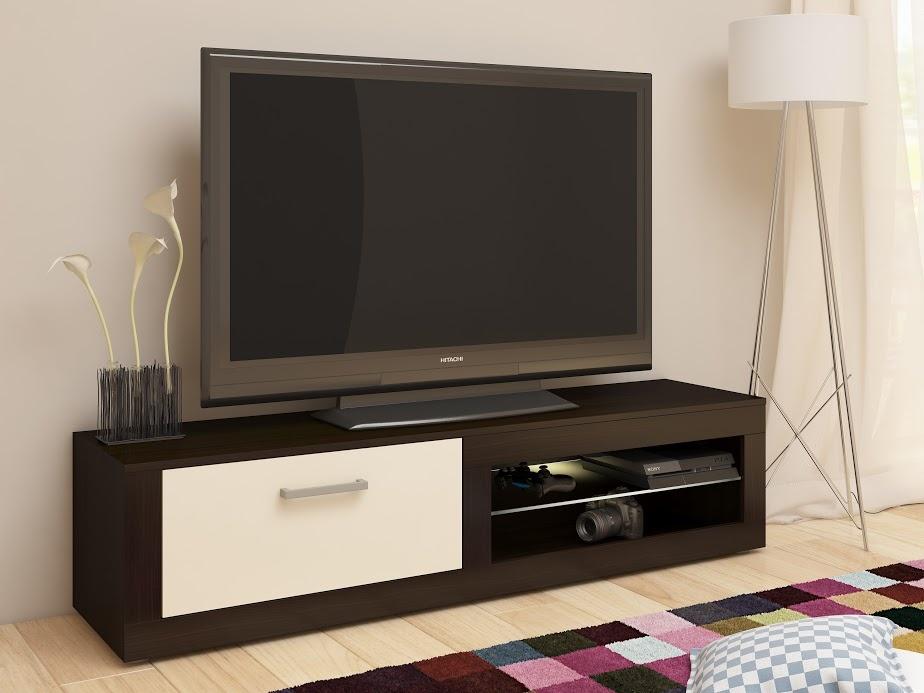 MORAVIA FLAT TV stolek VIKY NEW, wenge/krém