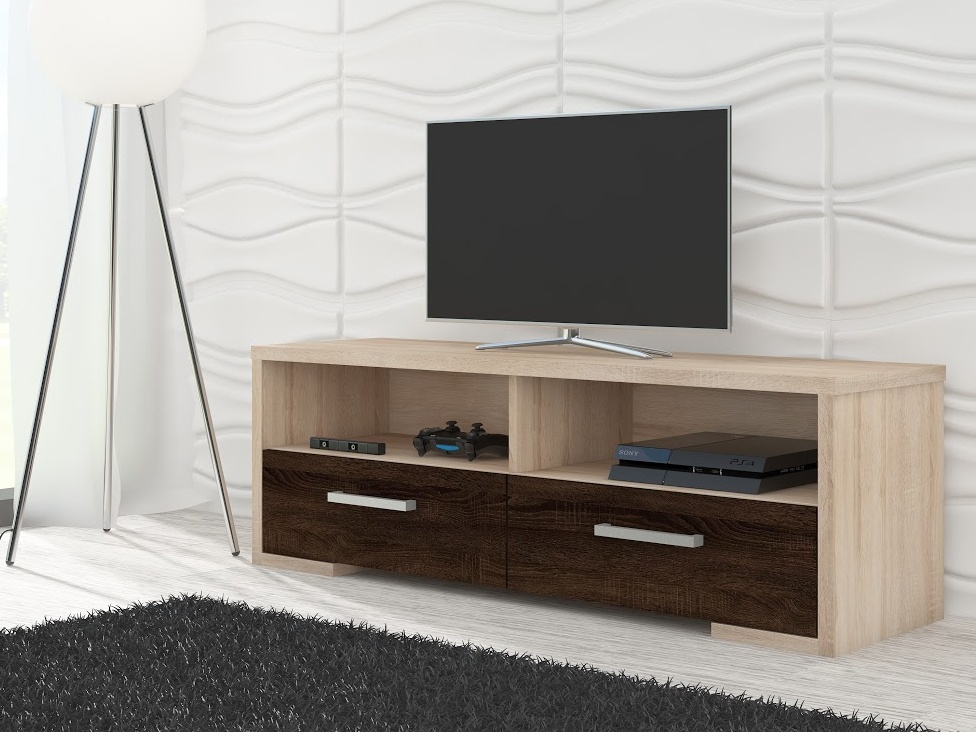 TV stolek ROMA, dub sonoma/dub sonoma tmavý