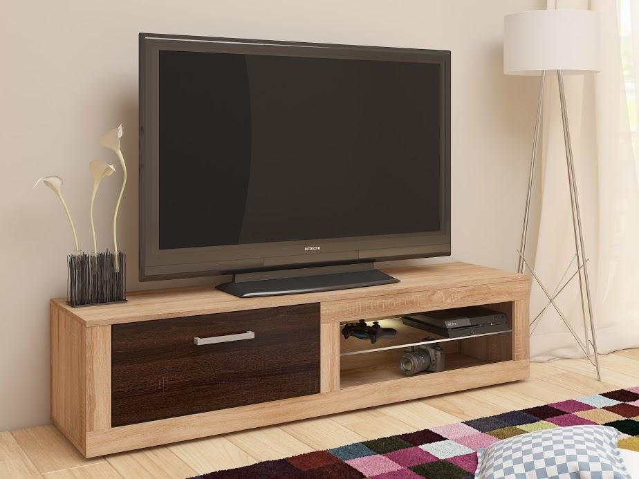 TV stolek VIKY NEW, dub sonoma/dub sonoma tmavý