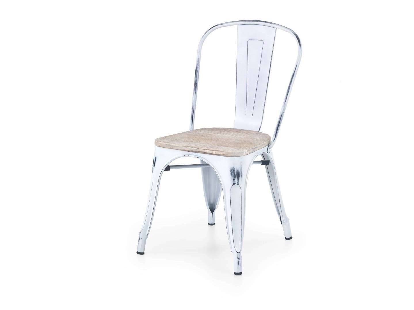 Halmar Židle K204, retro bílá