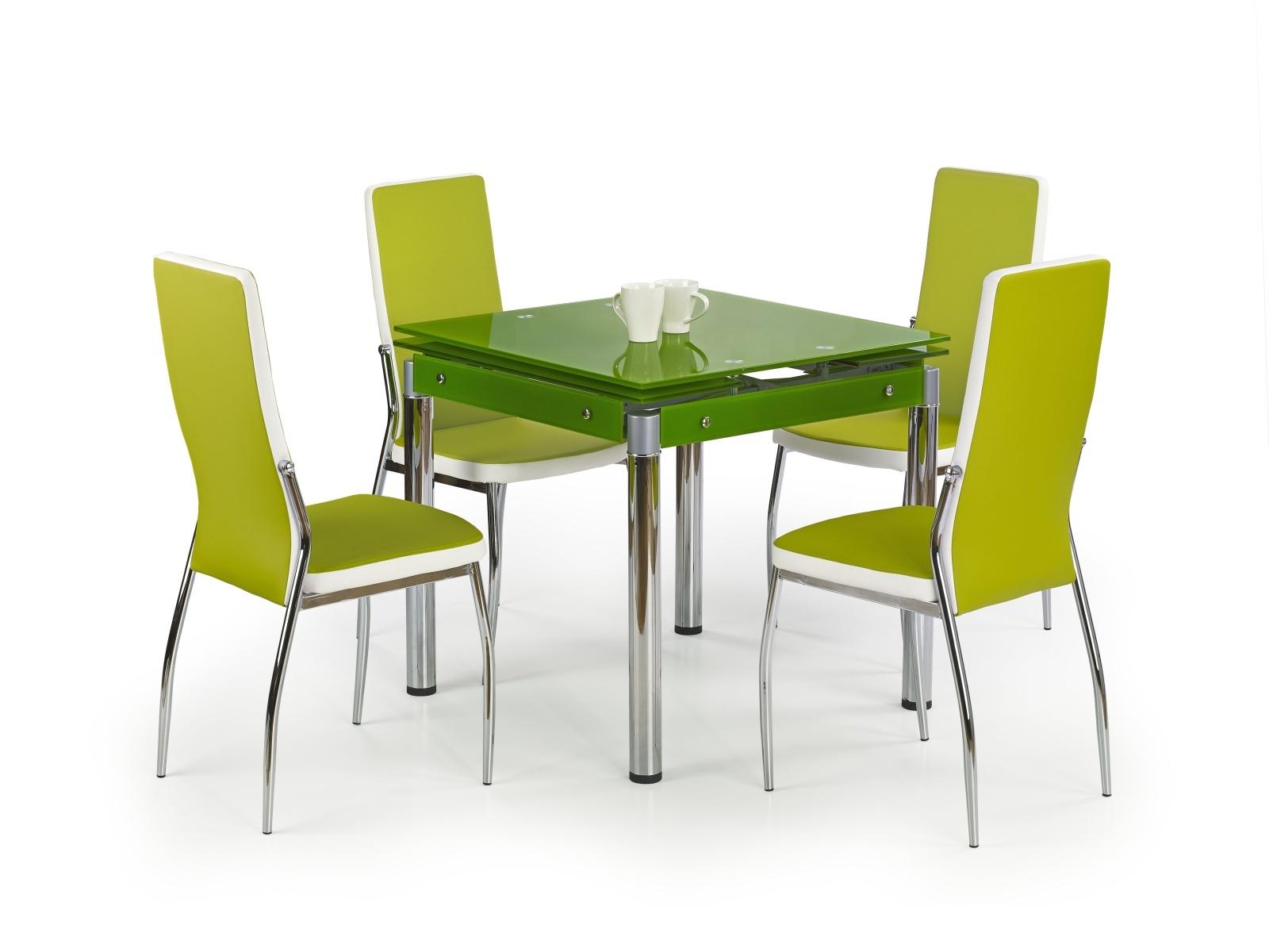 Halmar Jídelní stůl rozkládací KENT, zelený