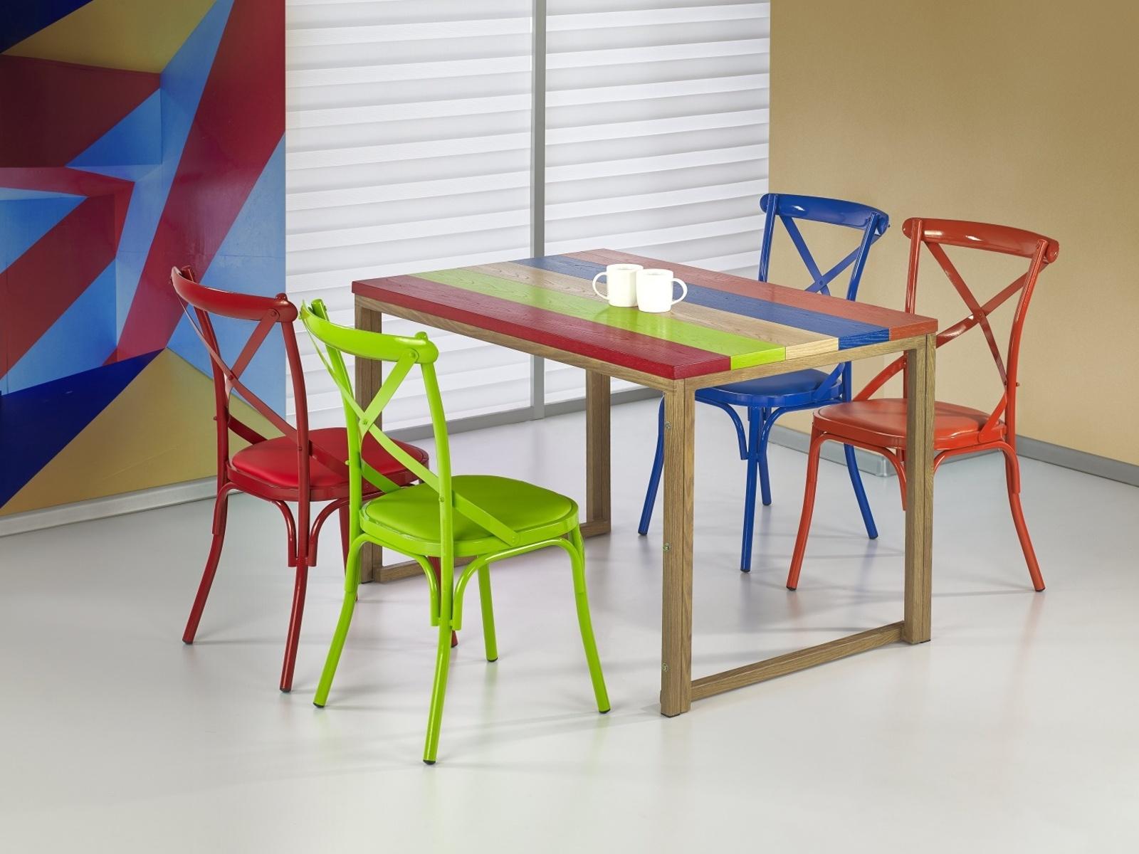 GARMIN jídelní stůl, vícebarevný/dub medový