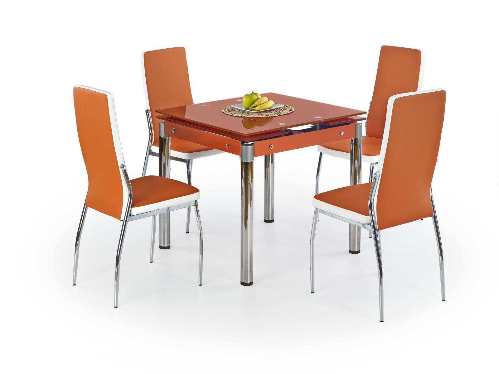 Halmar Jídelní stůl rozkládací KENT, oranžový