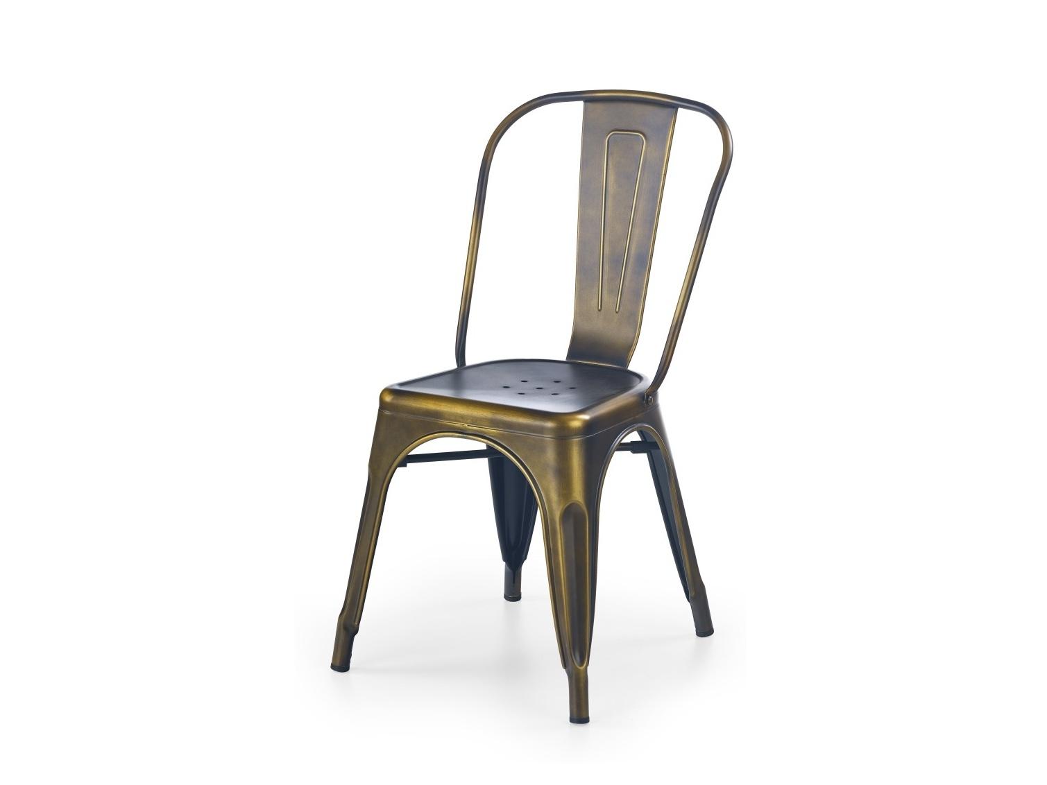 Halmar Židle K203, yellow cooper