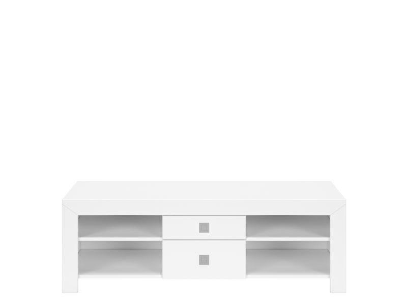 Black Red White MEZO II televizní stolek RTV2S/5/14, bílá/bílý lesk