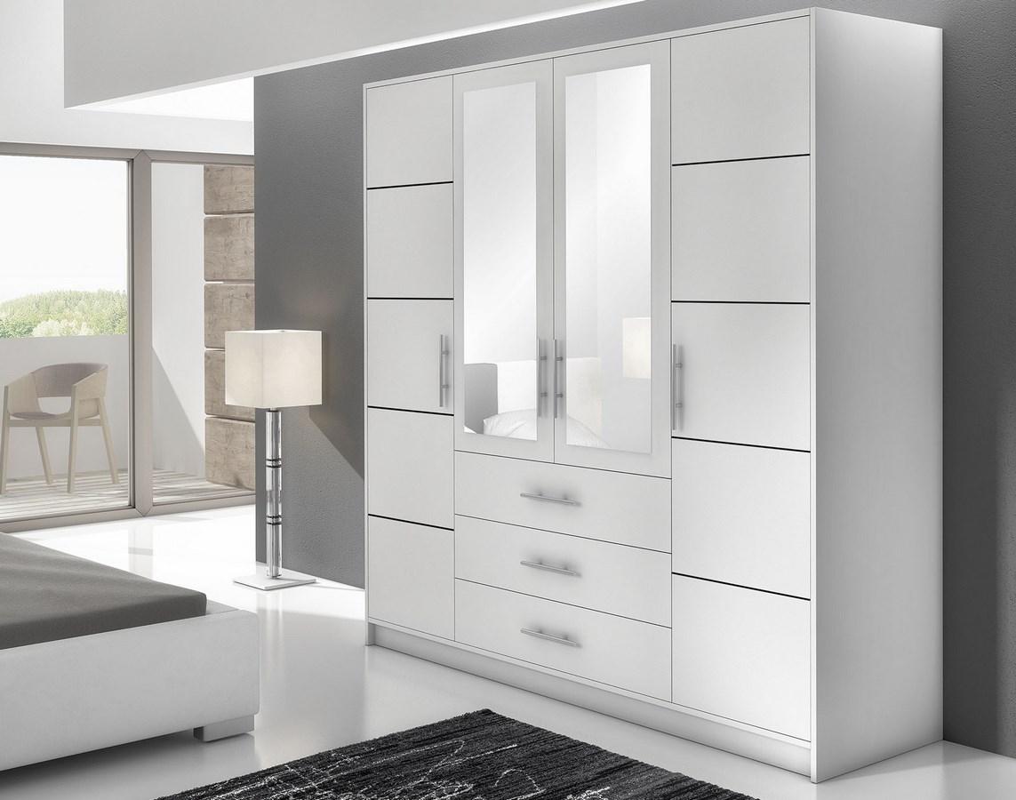 Smartshop BAALI D4 šatní skříň, bílá