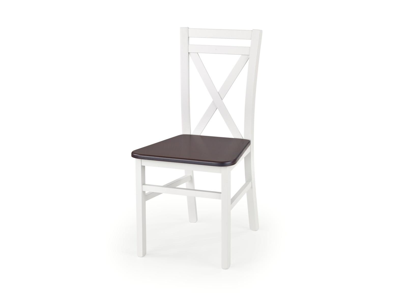 Halmar Jídelní židle DARIUS 2, bílá/ořech tmavý