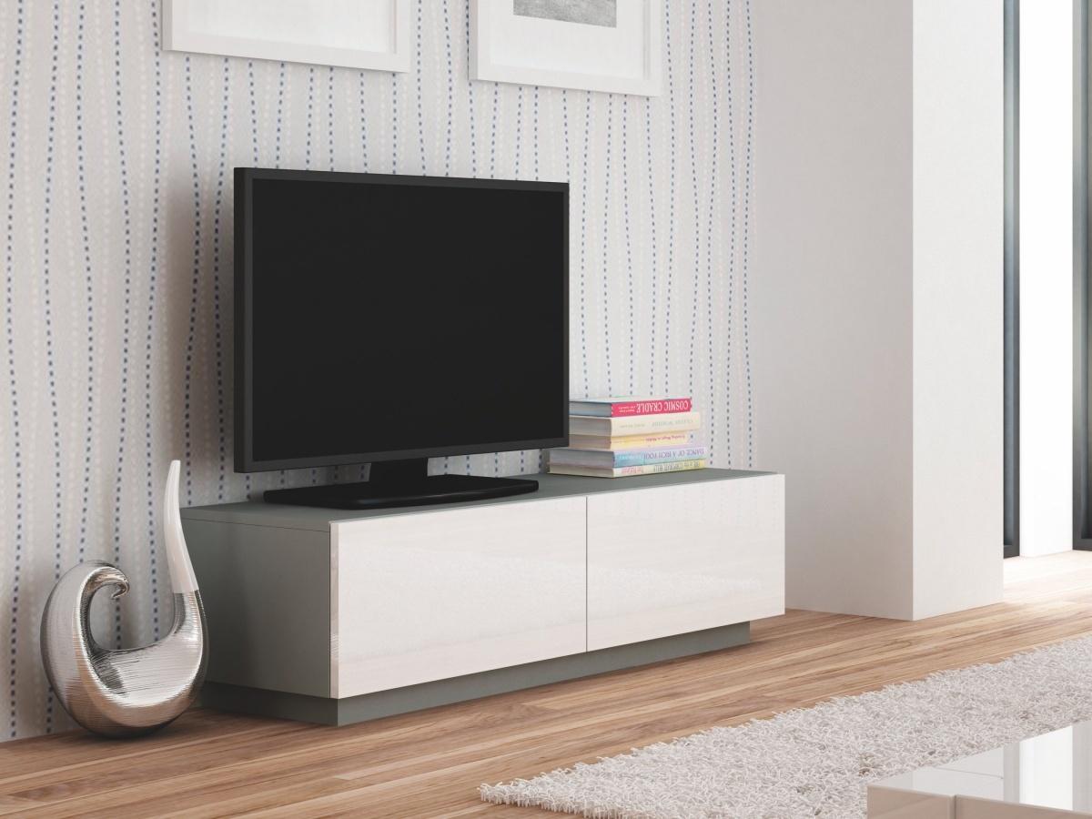 Halmar LIVO RTV-160S televizní stolek stojící, šedá/ bílá