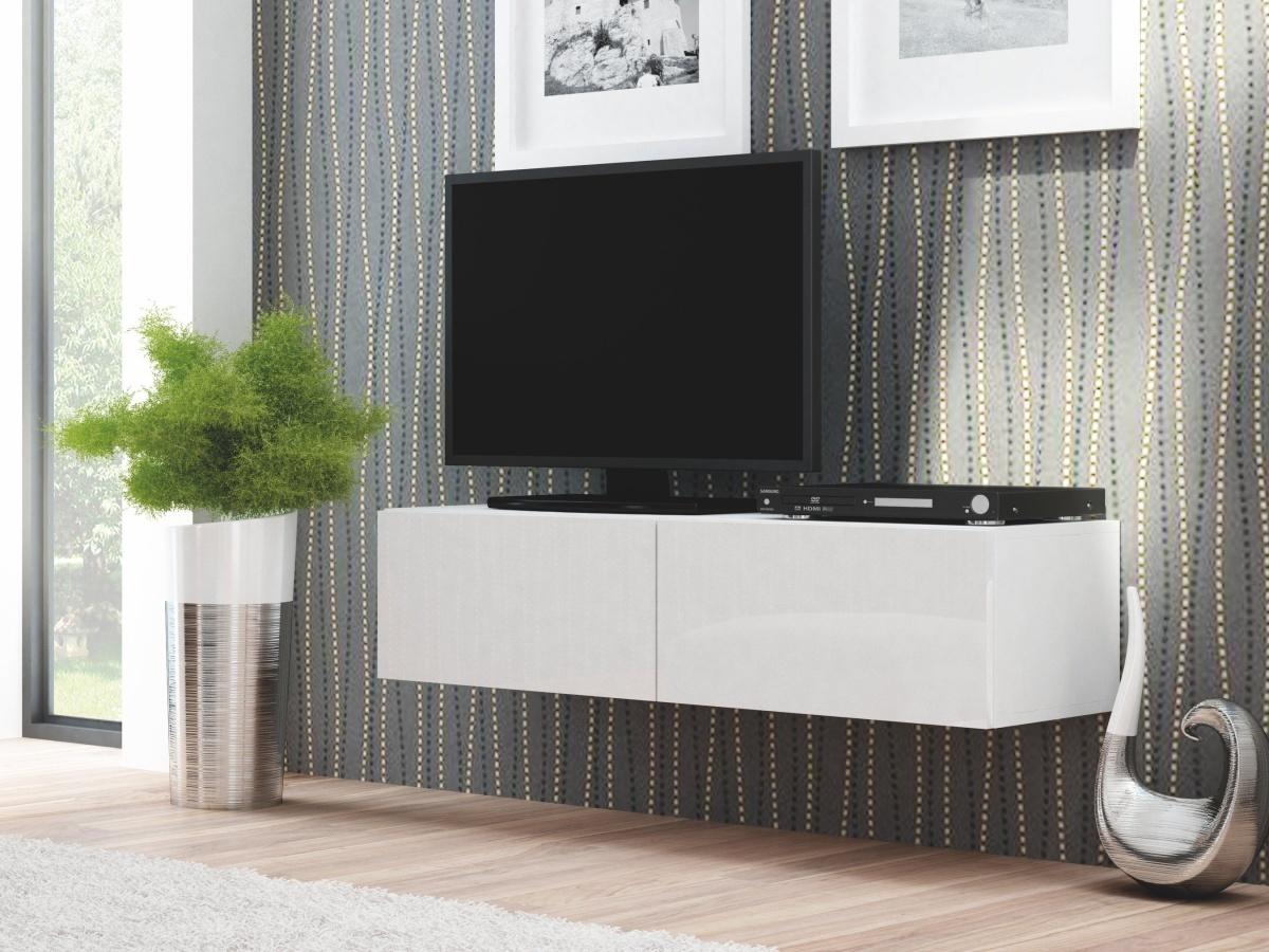 Halmar LIVO RTV-160W televizní stolek visící, bílá