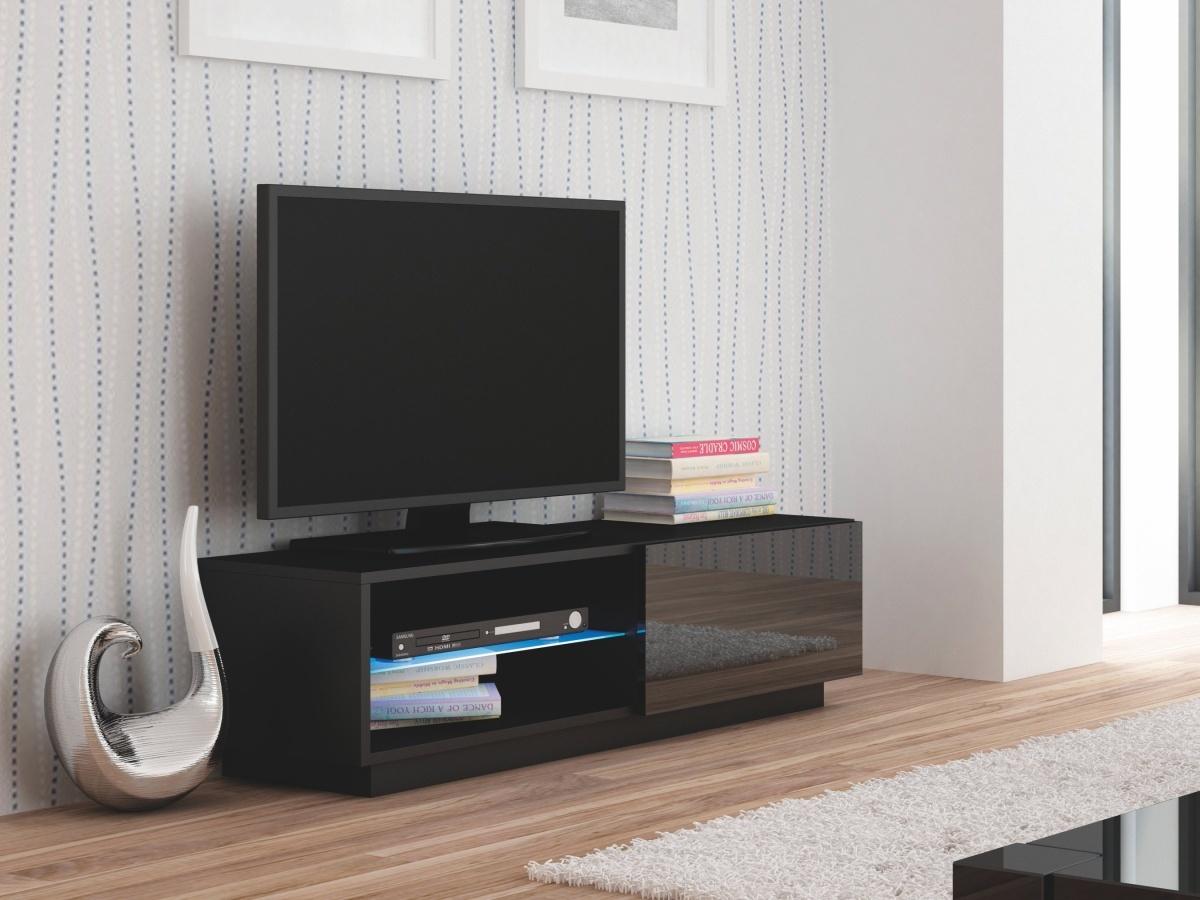 Halmar LIVO RTV-120S televizní stolek stojící, černá