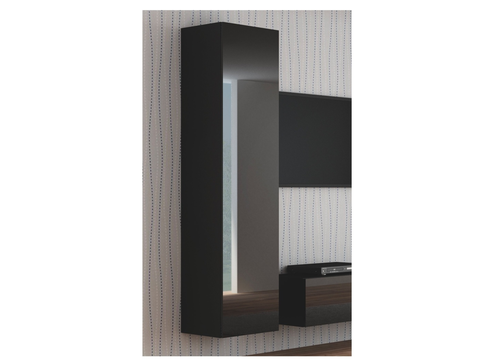 Halmar LIVO S-180 závěsná skříňka, černá