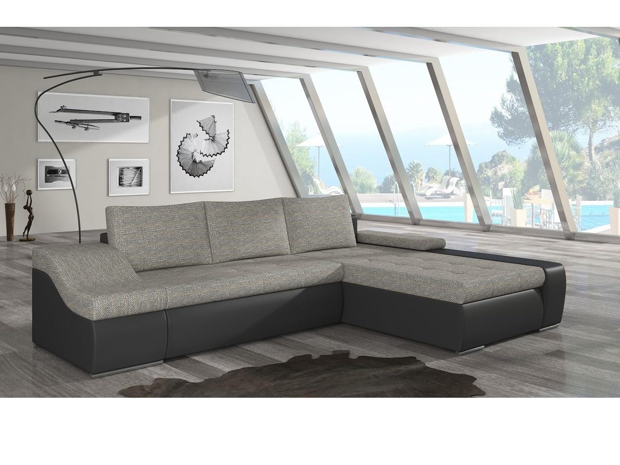 ELTAP Rohová sedačka ONTARIO 13 pravá, šedá/černá