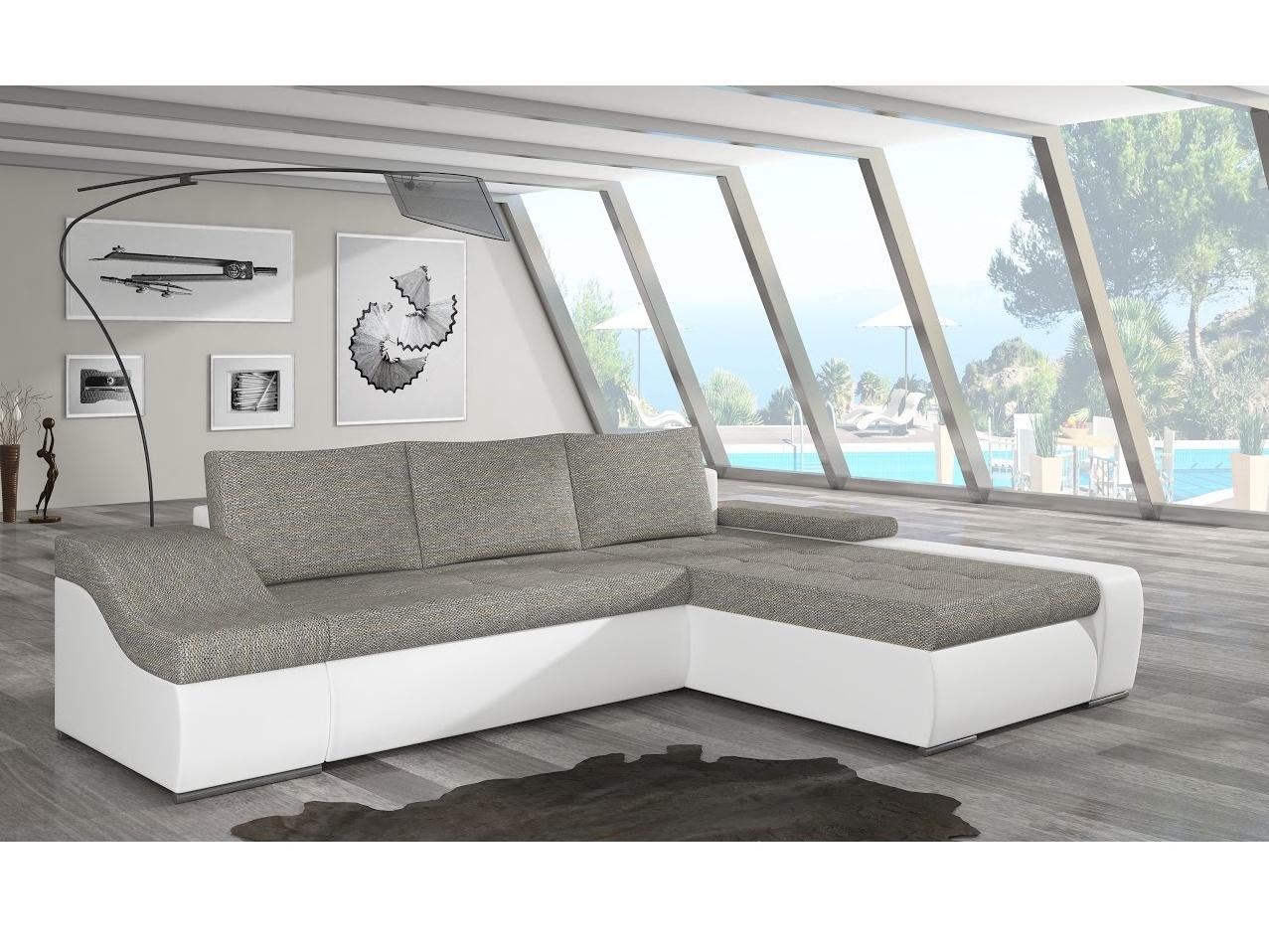 ELTAP Rohová sedačka ONTARIO 12 pravá, šedá/bílá