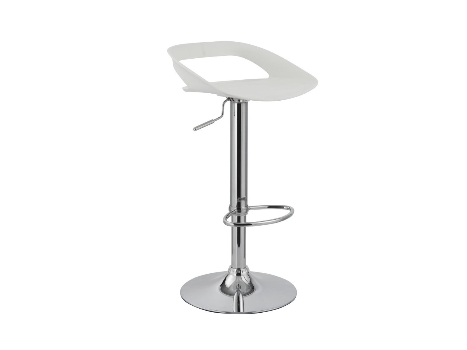Halmar Barová židle H-61, bílá