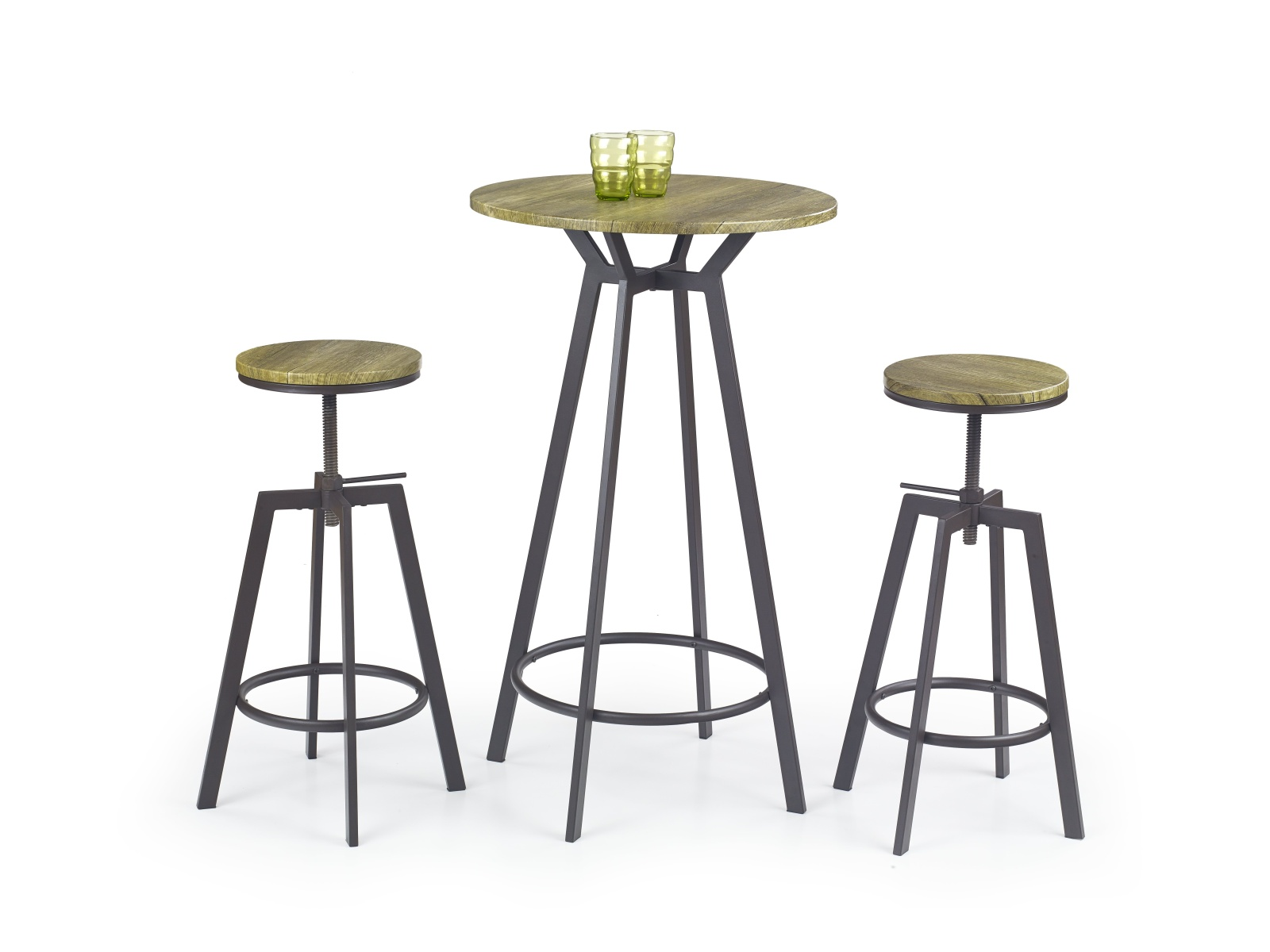 Halmar Barový stolek SB 9, old vasion/coffee