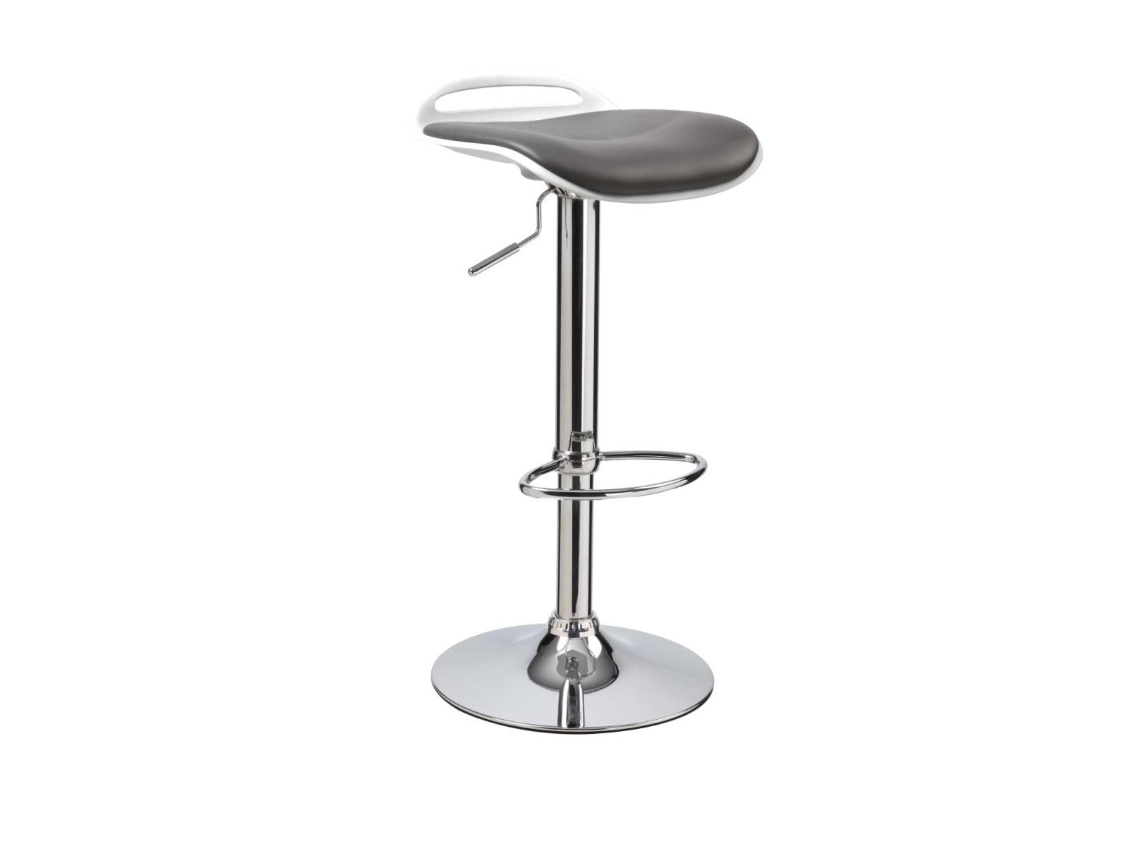Halmar Barová židle H-60, černá/bílá
